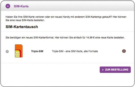 Bildschirmfoto vom SIM-Karten-Tausch (meincongstar)